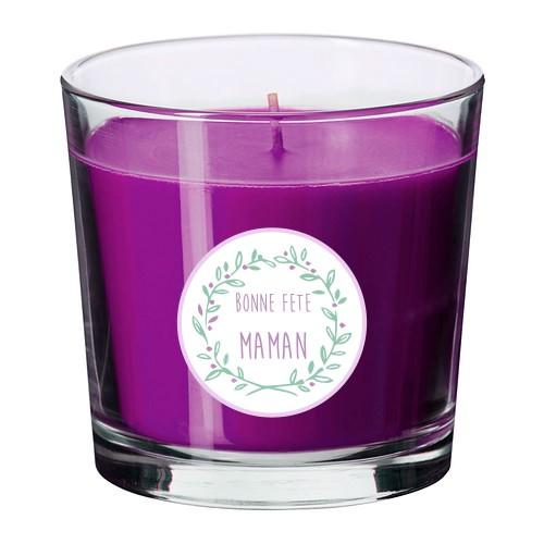 Bougie parfumée personnalisable maman violet