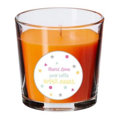 Bougie parfumée orange maîtresse personnalisable