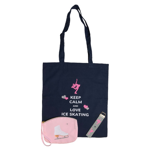 Coffret cadeau patinage keep calm and love Ice skating Harmonie rose