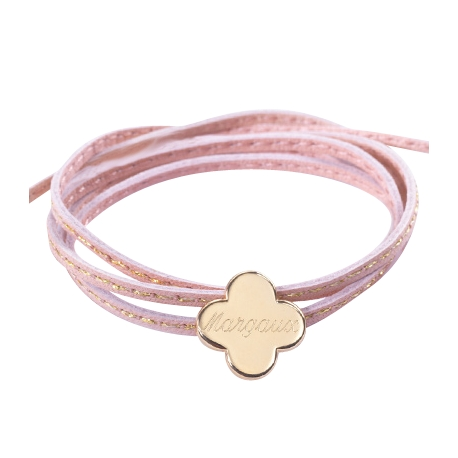 Bracelet Amazone Trèfle - Plaqué or