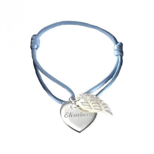 Bracelet Coeur d'Ange - Argent et Nacre