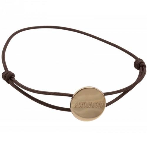 Bracelet cordon Médaille - Plaqué Or