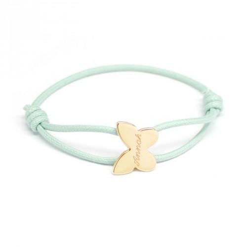 Bracelet Cordon Papillon - Plaqué Or