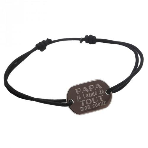 Bracelet Je t'aime Papa - Argent