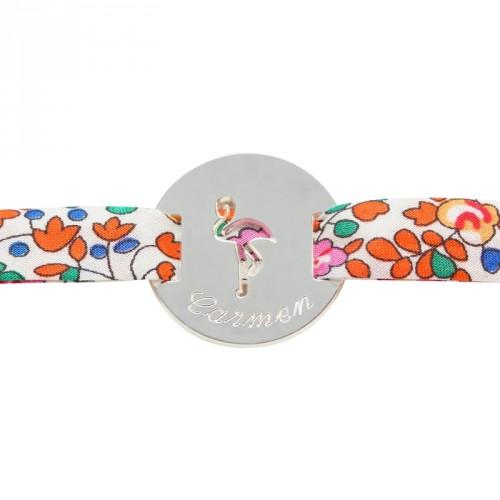 Bracelet Liberty Flamant- argent