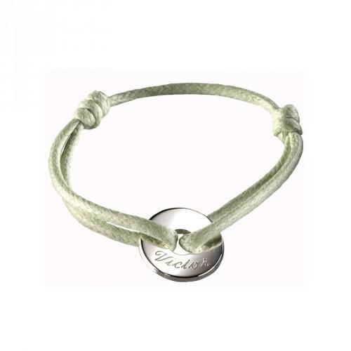 Bracelet mini jeton - argent