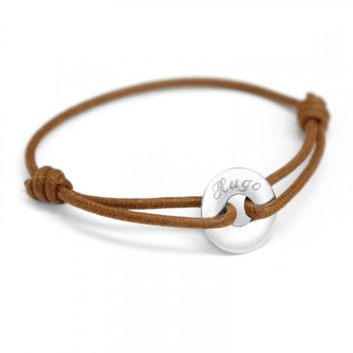 Bracelet Mini Jeton - Or Blanc