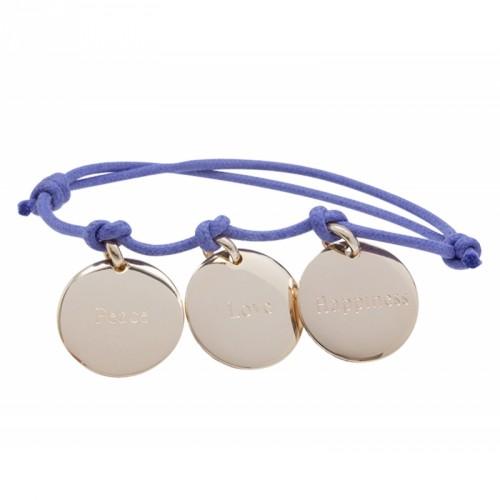 Bracelet Peace Love Happiness