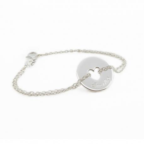 Bracelet Poème Coeur- argent