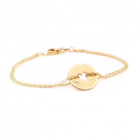 Bracelet Poème Coeur- plaqué or