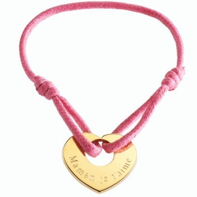 Bracelet A coeur de Peau- plaqué or