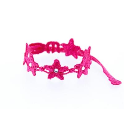 Bracelet en dentelle motif Star avec SWAROVSKI ELEMENTS