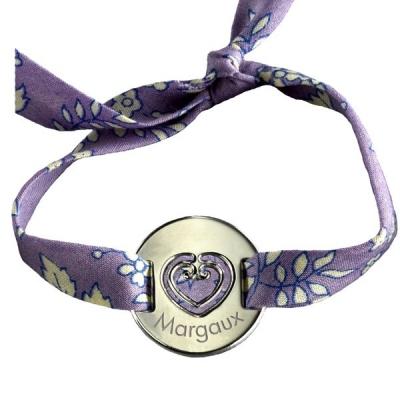 Bracelet Liberty Coeur Sacré- argent