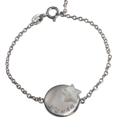 Bracelet Lovely Médaille Star- argent
