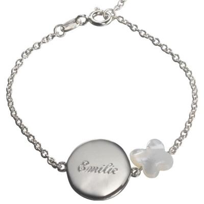 Bracelet Lovely Nacre Papillon - argent