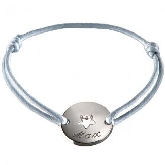 Bracelet mini jeton Star - argent