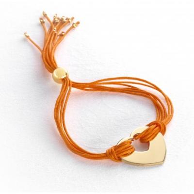 Bracelet Rainbow Coeur - Plaqué or