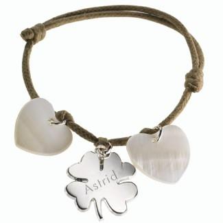 Bracelet Trèfle Lucky- argent et nacre