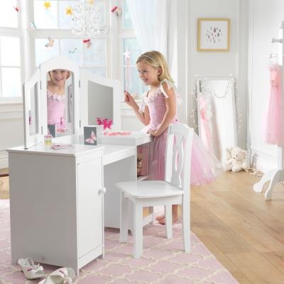 Coiffeuse et chaise de luxe 13018 lili pouce stickers appliques frises - Coiffeuse chambre fille ...