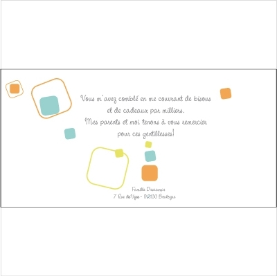 Carte de remerciements Patchwork Q
