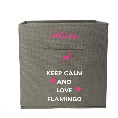 Casier keep calm and love flamingo personnalisable
