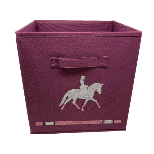casier de rangement prune cheval à l'obstacle personnalisable