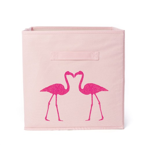 Casier de rangement 2 flamants personnalisable