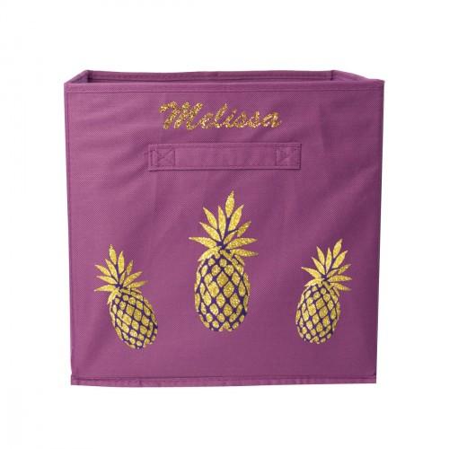 Casier de rangement 3 ananas personnalisable