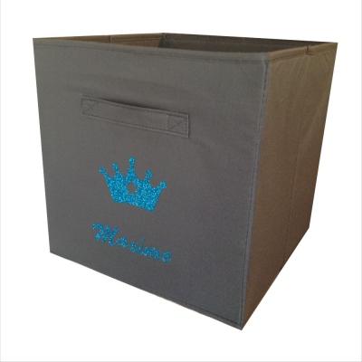 casier de rangement sissi couronne personnalisable lili pouce boutique d co chambre b b. Black Bedroom Furniture Sets. Home Design Ideas