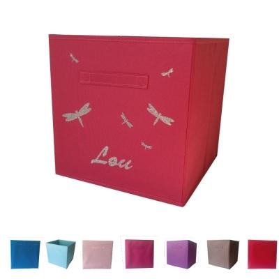 casier de rangement sissi libellule personnalisable lili pouce boutique d co chambre b b. Black Bedroom Furniture Sets. Home Design Ideas
