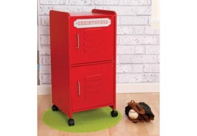 Casier de rangement rouge personnalisable