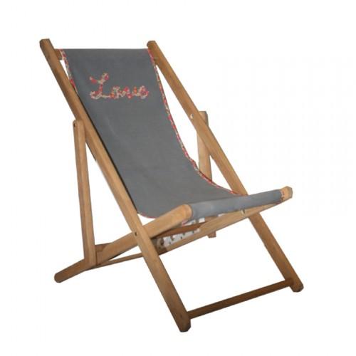 Chaise longue toile coton Liberty