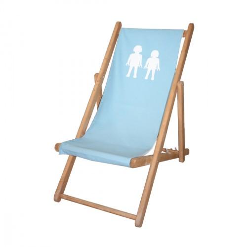 Chaise longue toile coton Playmo personnalisable