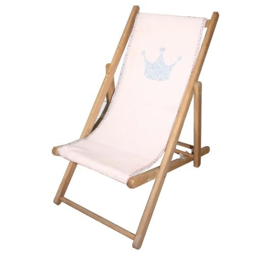 Chaise longue toile swaddle biais liberty couronne personnalisable