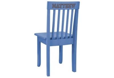 Chaise enfant bleue personnalisable