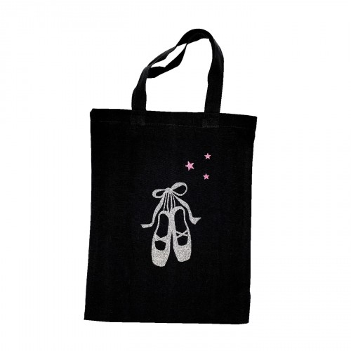 Tote bag chaussons danse argent