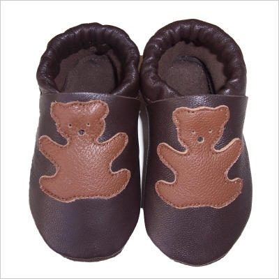 Chaussons chocolat Ours Taupe
