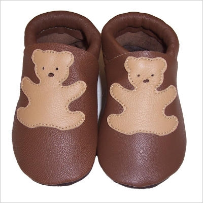 Chaussons Marron ourson beige