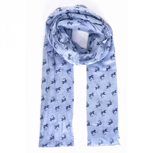 Foulard Petits Chats Bleu