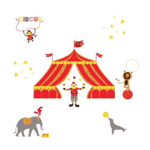 Stickers Le cirque