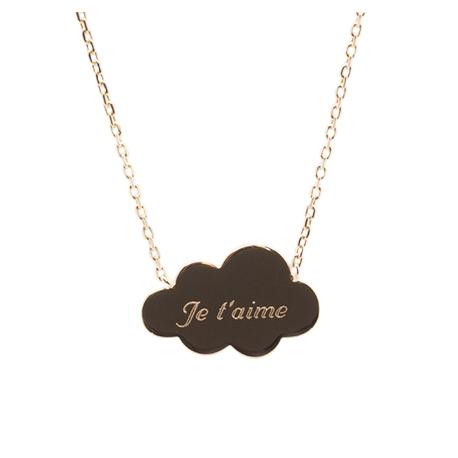 Collier nuage personnalisé - Plaqué or