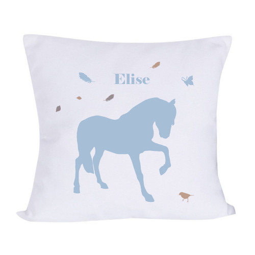 Coussin cheval plume personnalisable