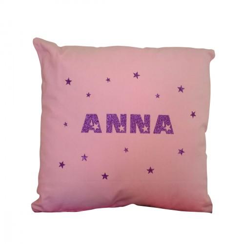 Coussin prénom étoiles Anna