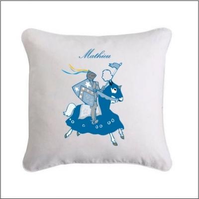 Coussin chevalier bleu