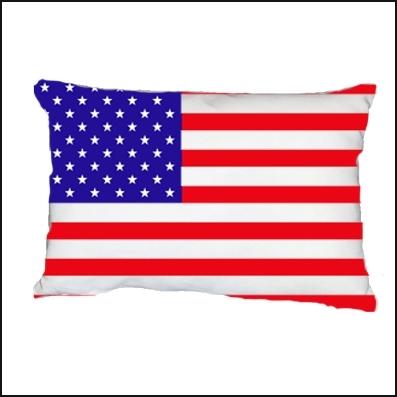 Coussin drapeau americain personnalisable