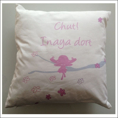 Coussin Fée Rose