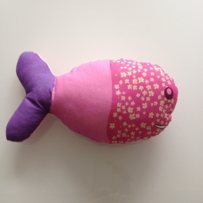 Coussin géant poisson rose