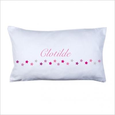 coussin guirlande toile fushia lili pouce boutique. Black Bedroom Furniture Sets. Home Design Ideas