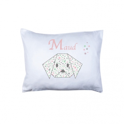 Coussin origami chien