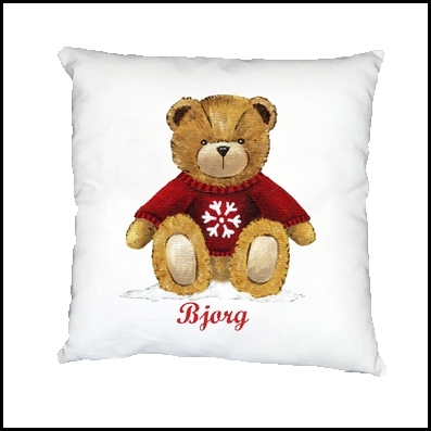 Coussin ours bjorg personnalisable